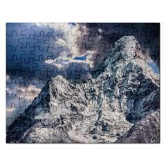 Mountain Snow Winter Landscape Rectangular Jigsaw Puzzl by Celenk