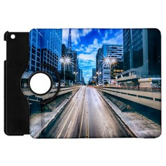 Urban Street Cityscape Modern City Apple Ipad Mini Flip 360 Case by Celenk