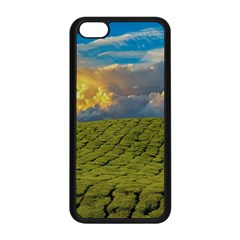 Sunrise Hills Landscape Nature Sky Apple Iphone 5c Seamless Case (black) by Celenk