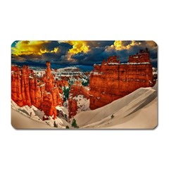 Snow Landscape Winter Cold Nature Magnet (rectangular) by Celenk
