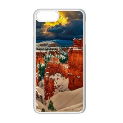 Snow Landscape Winter Cold Nature Apple Iphone 8 Plus Seamless Case (white)