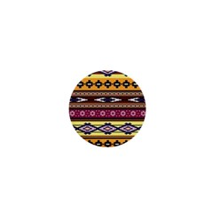 Colorful Tribal Art   Boho Pattern 1  Mini Buttons by tarastyle