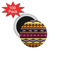 Colorful Tribal Art   Boho Pattern 1 75  Magnets (100 Pack)  by tarastyle