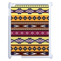 Colorful Tribal Art   Boho Pattern Apple Ipad 2 Case (white) by tarastyle