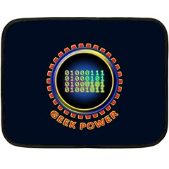 Geek Power Double Sided Fleece Blanket (mini)  by linceazul