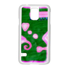 Hearts For The Pink Cross Samsung Galaxy S5 Case (white) by snowwhitegirl