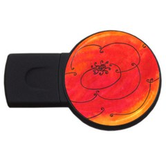 Flower Usb Flash Drive Round (2 Gb) by snowwhitegirl