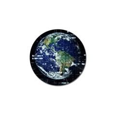 Earth Internet Globalisation Golf Ball Marker by Celenk