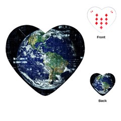 Earth Internet Globalisation Playing Cards (heart)  by Celenk