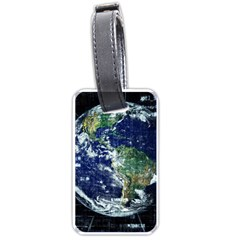 Earth Internet Globalisation Luggage Tags (one Side)  by Celenk