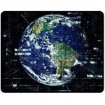 Earth Internet Globalisation Double Sided Fleece Blanket (Medium)  58.8 x47.4 Blanket Back