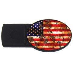 American Flag Usa Symbol National Usb Flash Drive Oval (2 Gb) by Celenk