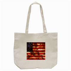 American Flag Usa Symbol National Tote Bag (cream) by Celenk