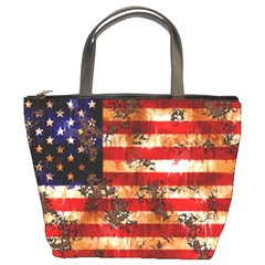 American Flag Usa Symbol National Bucket Bags by Celenk