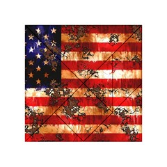 American Flag Usa Symbol National Acrylic Tangram Puzzle (4  X 4 ) by Celenk