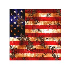 American Flag Usa Symbol National Small Satin Scarf (square) by Celenk