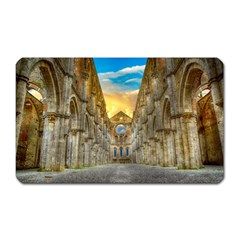 Abbey Ruin Architecture Medieval Magnet (rectangular) by Celenk