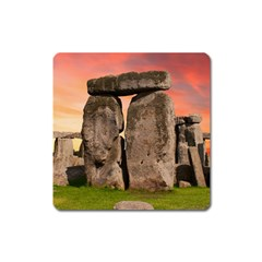 Stonehenge Ancient England Square Magnet by Celenk