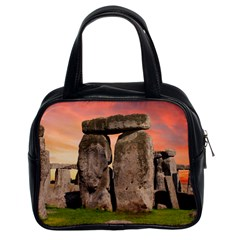 Stonehenge Ancient England Classic Handbags (2 Sides) by Celenk