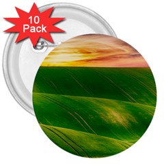Hills Countryside Sky Rural 3  Buttons (10 Pack)