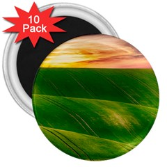 Hills Countryside Sky Rural 3  Magnets (10 Pack)