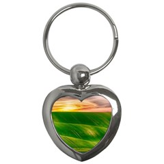 Hills Countryside Sky Rural Key Chains (heart)