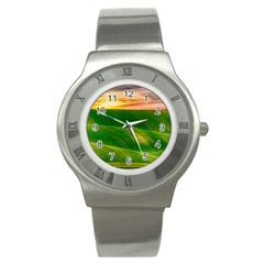 Hills Countryside Sky Rural Stainless Steel Watch