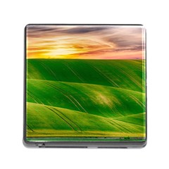 Hills Countryside Sky Rural Memory Card Reader (square)