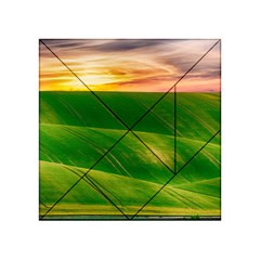 Hills Countryside Sky Rural Acrylic Tangram Puzzle (4  X 4 )