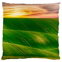 Hills Countryside Sky Rural Large Cushion Case (two Sides)