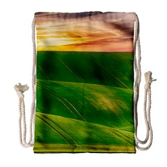 Hills Countryside Sky Rural Drawstring Bag (large)