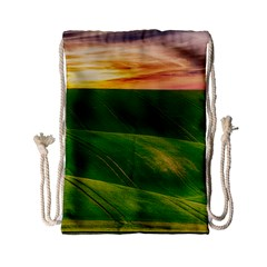 Hills Countryside Sky Rural Drawstring Bag (small)