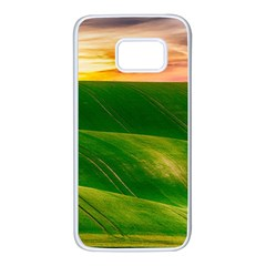 Hills Countryside Sky Rural Samsung Galaxy S7 White Seamless Case