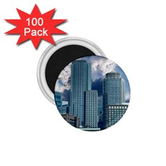 Tower Blocks Skyscraper City Modern 1 75  Magnets (100 Pack)  by Celenk