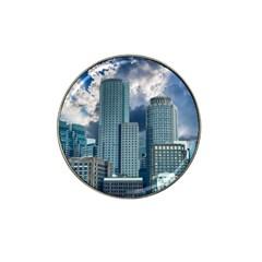 Tower Blocks Skyscraper City Modern Hat Clip Ball Marker by Celenk