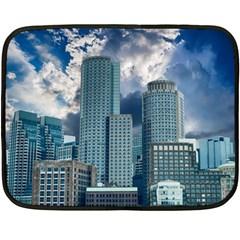 Tower Blocks Skyscraper City Modern Double Sided Fleece Blanket (mini)  by Celenk