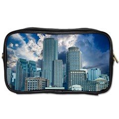 Tower Blocks Skyscraper City Modern Toiletries Bags 2 Side