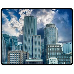 Tower Blocks Skyscraper City Modern Fleece Blanket (medium)  by Celenk