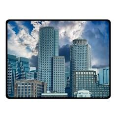Tower Blocks Skyscraper City Modern Fleece Blanket (small) by Celenk