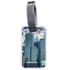 Tower Blocks Skyscraper City Modern Luggage Tags (two Sides)
