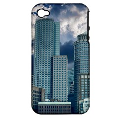Tower Blocks Skyscraper City Modern Apple Iphone 4/4s Hardshell Case (pc+silicone)