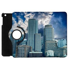 Tower Blocks Skyscraper City Modern Apple Ipad Mini Flip 360 Case by Celenk