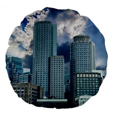 Tower Blocks Skyscraper City Modern Large 18  Premium Round Cushions by Celenk