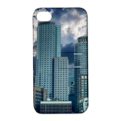 Tower Blocks Skyscraper City Modern Apple Iphone 4/4s Hardshell Case With Stand