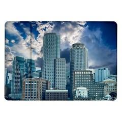 Tower Blocks Skyscraper City Modern Samsung Galaxy Tab 10 1  P7500 Flip Case by Celenk