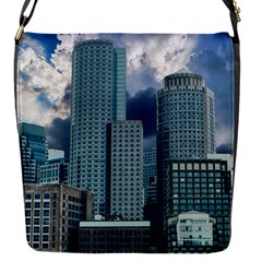 Tower Blocks Skyscraper City Modern Flap Messenger Bag (s)