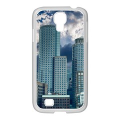 Tower Blocks Skyscraper City Modern Samsung Galaxy S4 I9500/ I9505 Case (white) by Celenk
