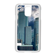 Tower Blocks Skyscraper City Modern Samsung Galaxy S5 Case (white) by Celenk