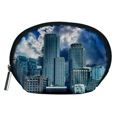 Tower Blocks Skyscraper City Modern Accessory Pouches (medium)  by Celenk