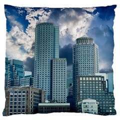 Tower Blocks Skyscraper City Modern Large Flano Cushion Case (one Side) by Celenk